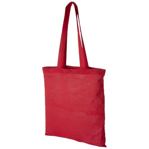 Carolina 100 g/m² cotton tote bag in red