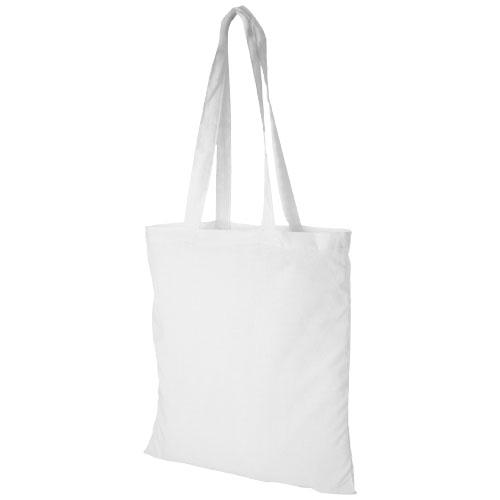 Carolina 100 g/m² cotton tote bag in white-solid