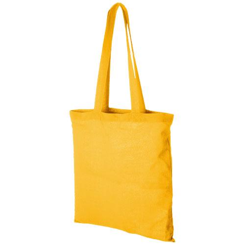 Carolina 100 g/m² cotton tote bag in yellow