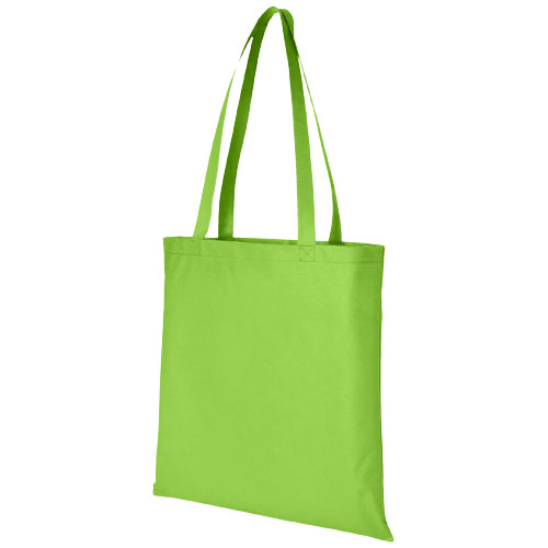 Zeus large non-woven convention tote bag in lime