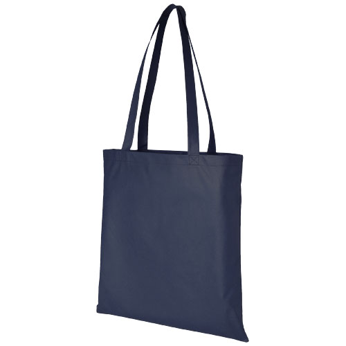 Zeus large non-woven convention tote bag in navy