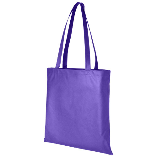 Zeus large non-woven convention tote bag in purple
