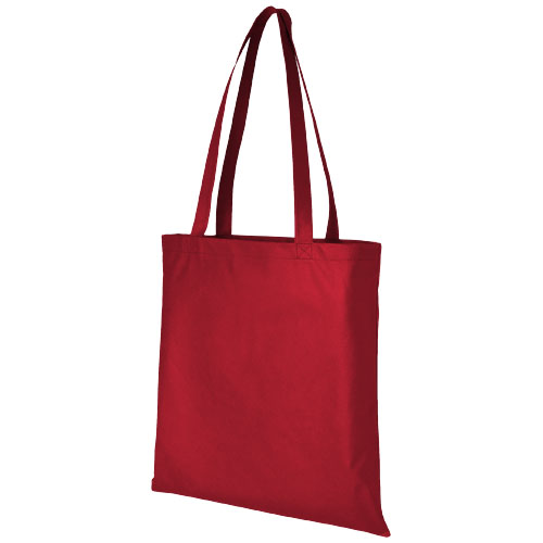 Zeus large non-woven convention tote bag in red