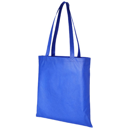 Zeus large non-woven convention tote bag in royal-blue