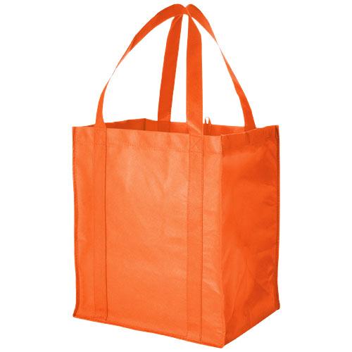 Liberty bottom board non-woven tote bag in orange