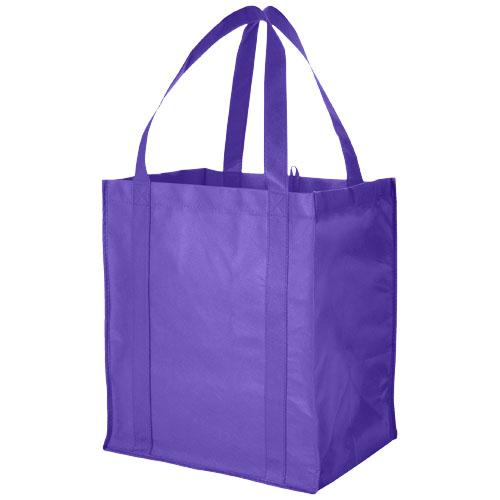 Liberty bottom board non-woven tote bag in purple