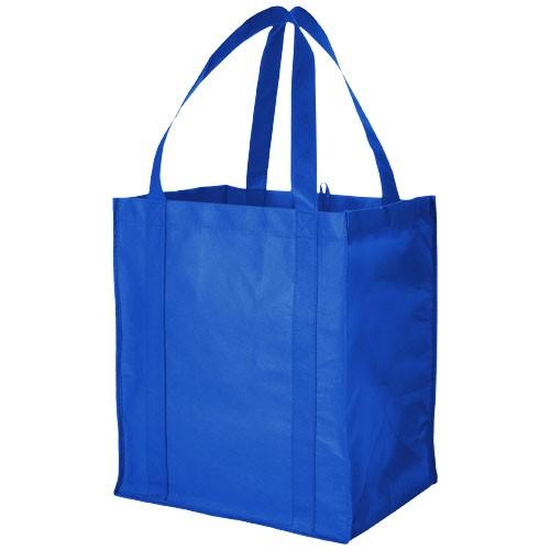 Liberty bottom board non-woven tote bag in royal-blue