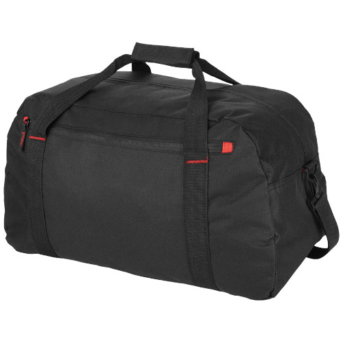 Vancouver travel duffel bag in black-solid