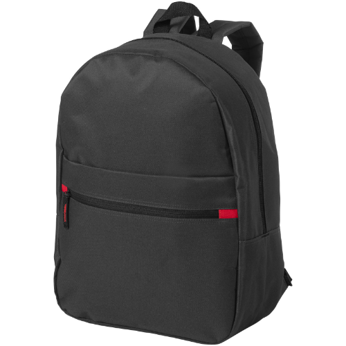Vancouver dual front pocket backpack in white-solid