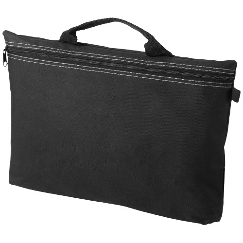 Orlando zippered conference bag with pen loop in black-solid