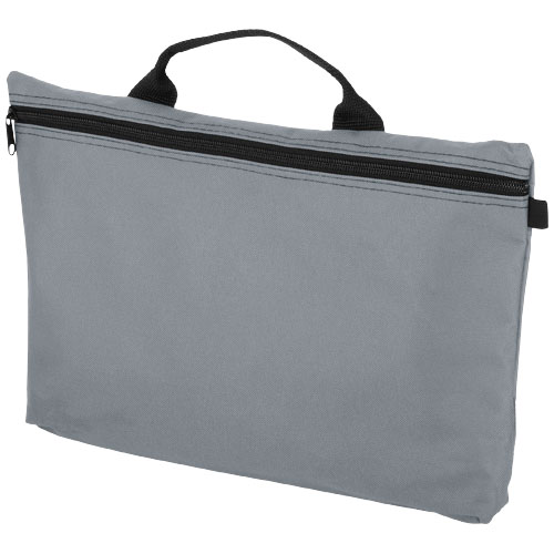 Orlando zippered conference bag with pen loop in grey