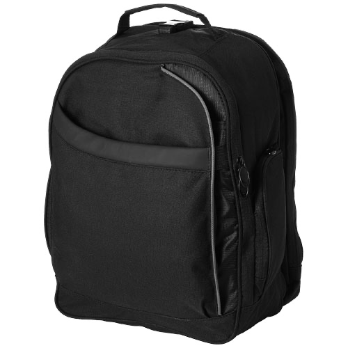 Checkmate 15'' laptop backpack in black-solid