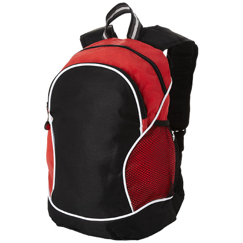Boomerang backpack in black-solid-and-red