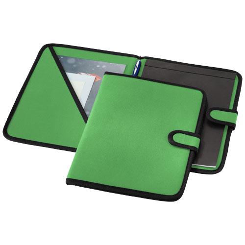 University A4 portfolio in bright-green