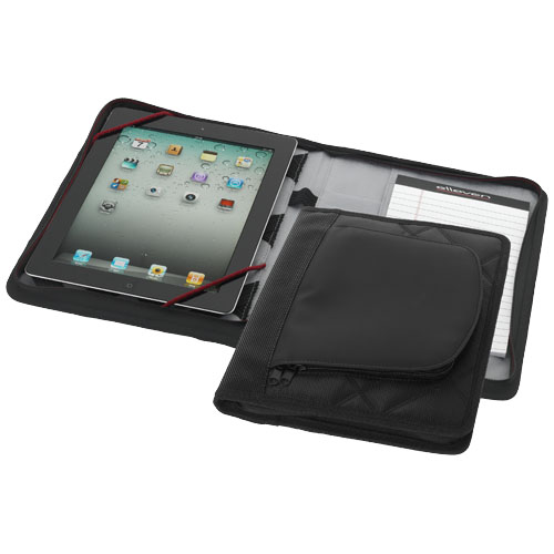iPad case with A5 notebook in black-solid