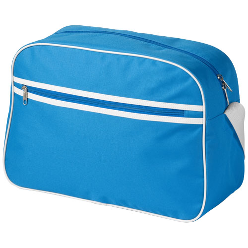 Sacramento 2-stripe messenger bag in aqua