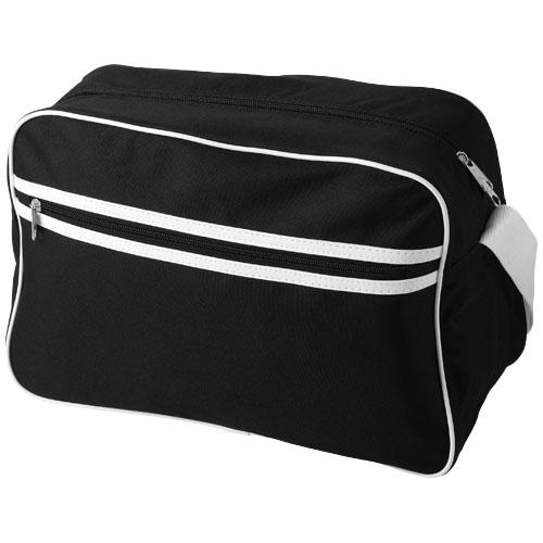 Sacramento 2-stripe messenger bag in black-solid