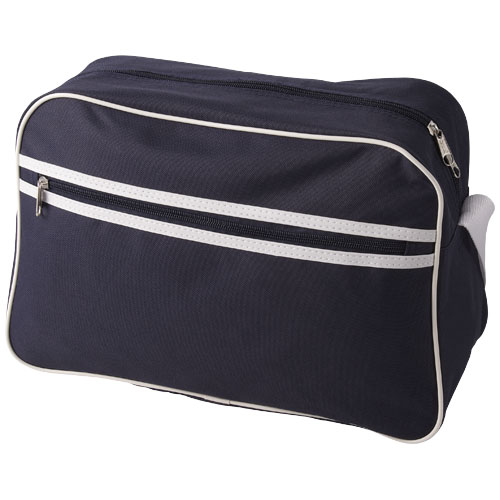 Sacramento 2-stripe messenger bag in navy