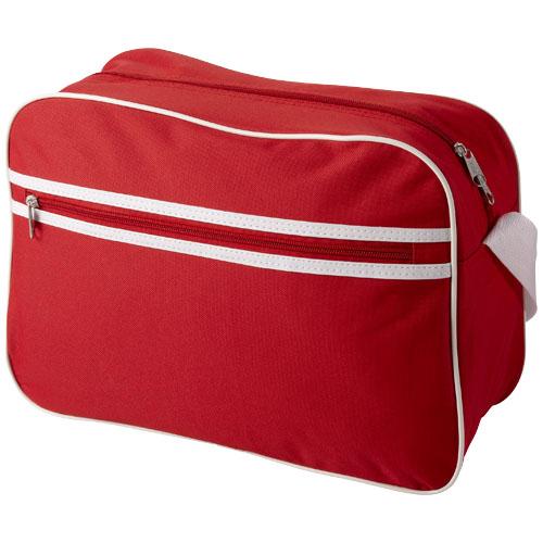 Sacramento 2-stripe messenger bag in red