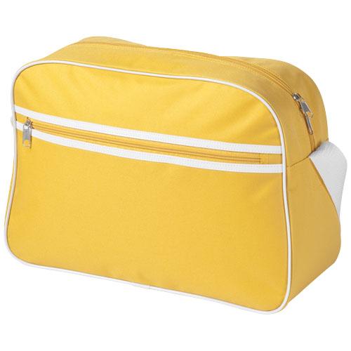Sacramento 2-stripe messenger bag in yellow
