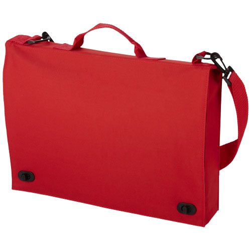 Santa Fe 2-buckle closure conference bag in red