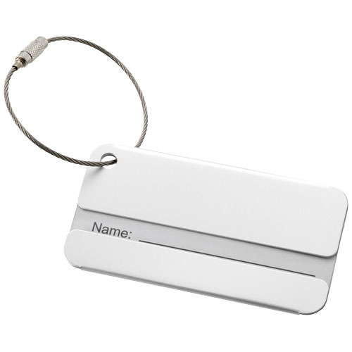 Discovery luggage tag in silver