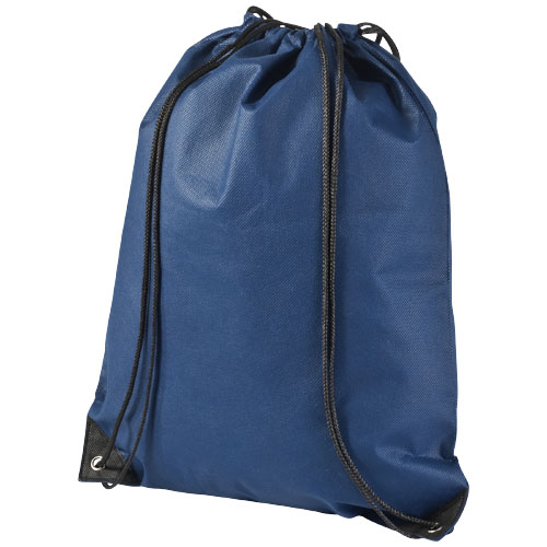 Evergreen non-woven drawstring backpack in navy