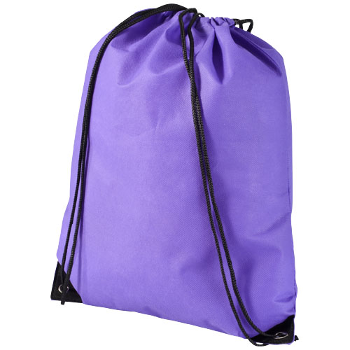 Evergreen non-woven drawstring backpack in purple