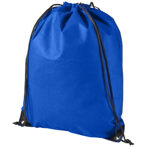 Evergreen non-woven drawstring backpack in royal-blue
