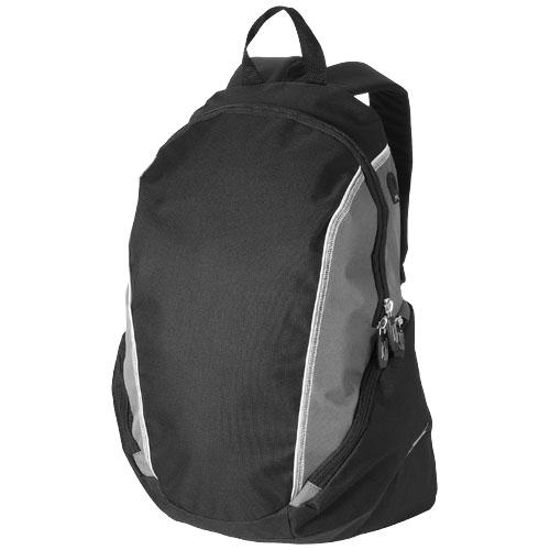 Brisbane 15.4'' laptop backpack in black-solid-and-grey