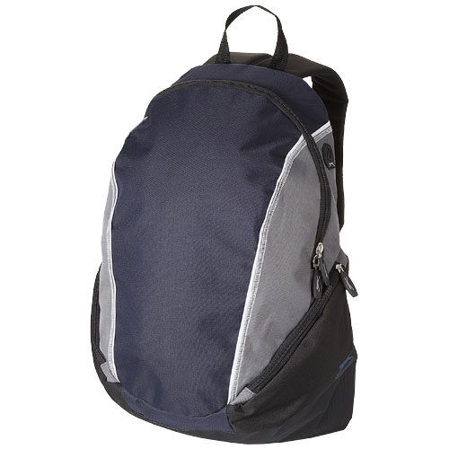 Brisbane 15.4'' laptop backpack in navy-and-grey