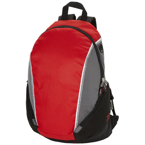 Brisbane 15.4'' laptop backpack in red-and-grey