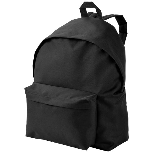 Urban covered zipper backpack in black-solid