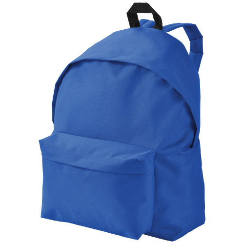 Urban covered zipper backpack in blue