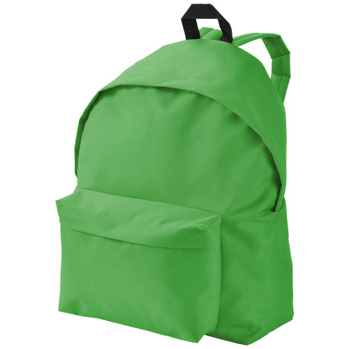 Urban covered zipper backpack in bright-green