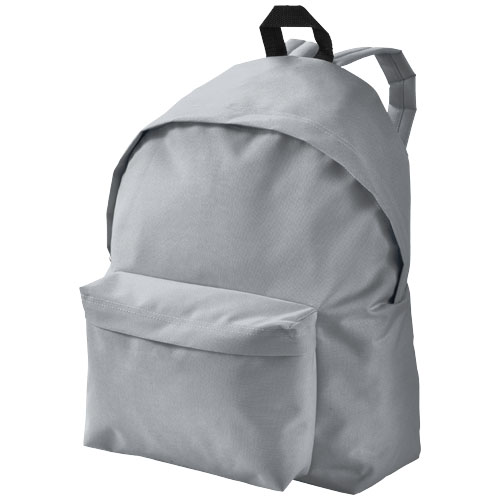 Urban covered zipper backpack in grey