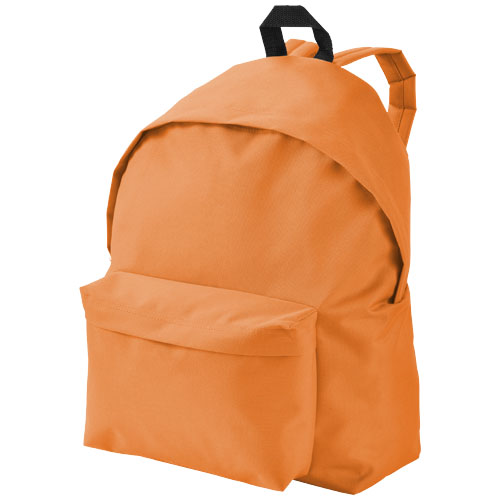 Urban covered zipper backpack in orange