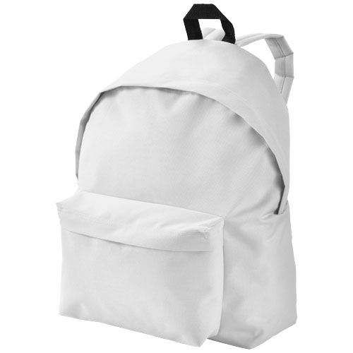 Urban covered zipper backpack in white-solid