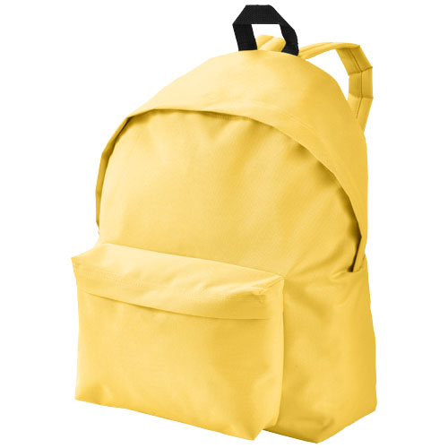Urban covered zipper backpack in yellow