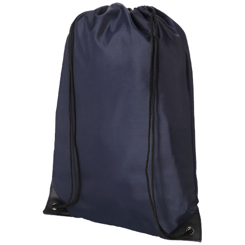 Condor polyester and non-woven drawstring backpack in navy