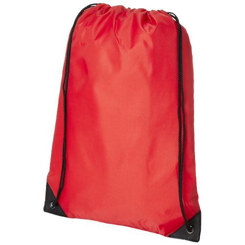 Condor polyester and non-woven drawstring backpack in red