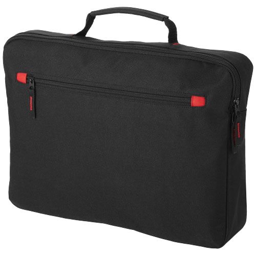 Vancouver conference bag in black-solid-and-red