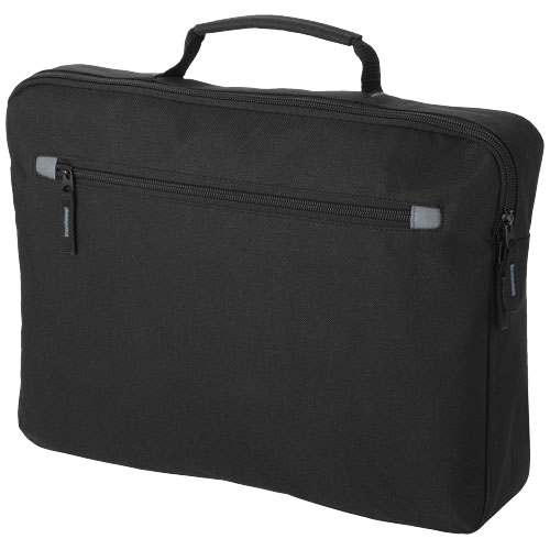 Vancouver conference bag in black-solid-and-grey