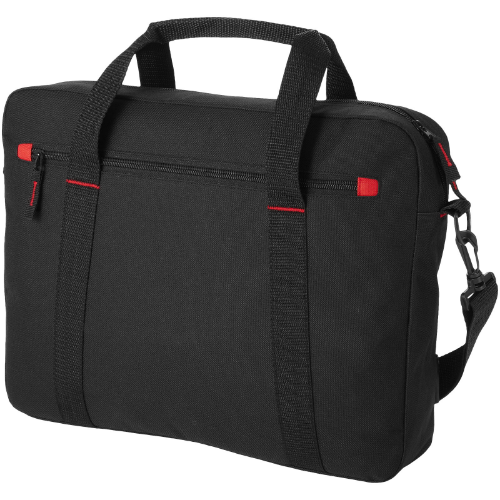 Vancouver 15.4'' laptop bag in black-solid