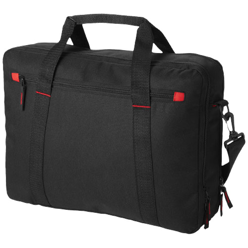 Vancouver 15.4'' extended laptop bag in black-solid