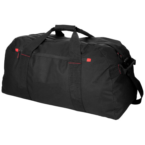 Vancouver extra large travel duffel bag in black-solid