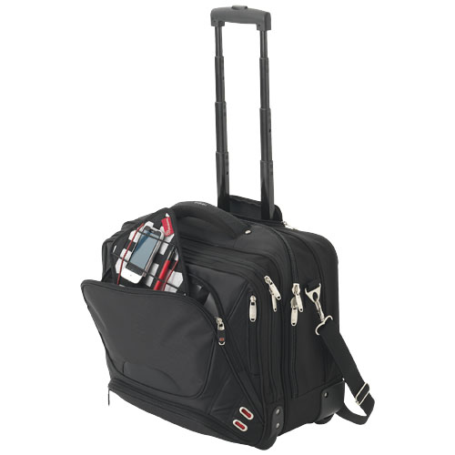 Proton 17'' airport security friendly messenger bag in black-solid