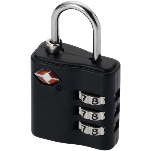 Kingsford TSA-compliant luggage lock in black-solid