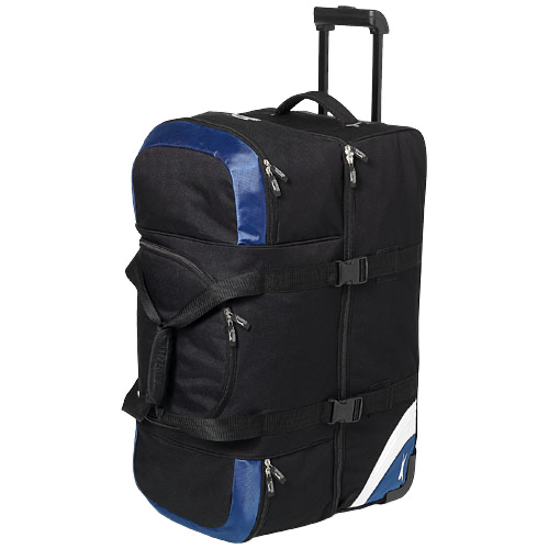 Wembley large travel bag in black-solid-and-blue