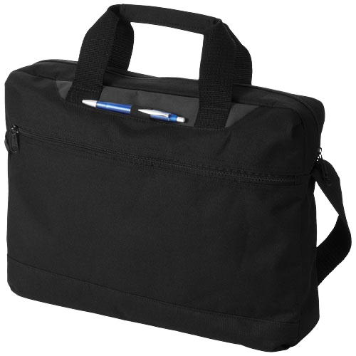 Dallas conference bag in black-solid-and-royal-blue